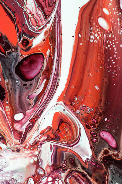 Wall Art - Painting - Fluid Acrylic Abstract. Unknown Taste 7 by Jenny Rainbow