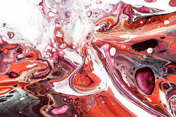 Wall Art - Painting - Fluid Acrylic Abstract. Unknown Taste 8 by Jenny Rainbow