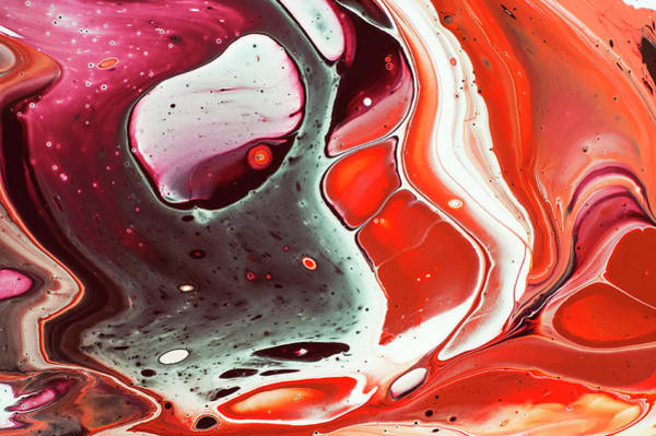 Wall Art - Painting - Fluid Acrylic Abstract. Unknown Taste  by Jenny Rainbow