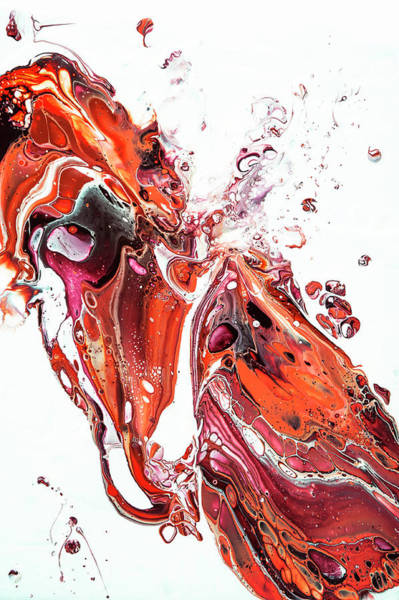 Painting - Fluid Acrylic Painting Unknown Taste by Jenny Rainbow