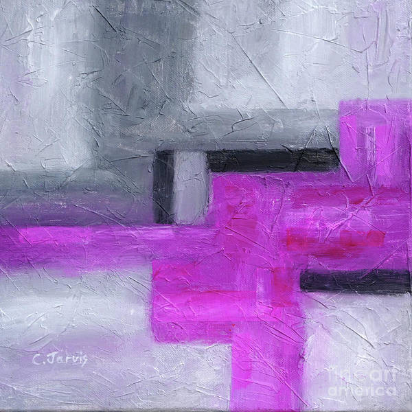 Painting - Fluorescent Pink  by Carolyn Jarvis