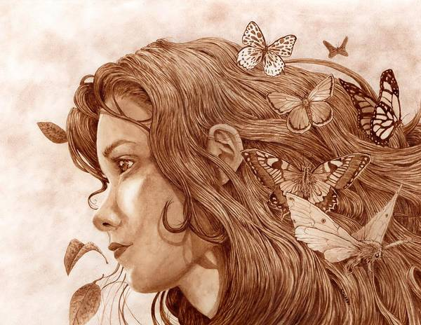 Surrealism Painting - Flutter by Michael Zawacki