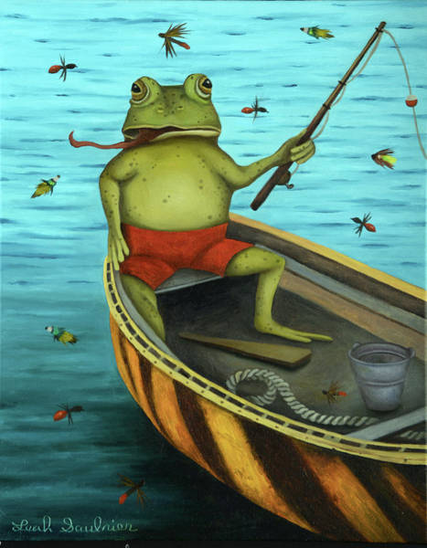Painting - Fly Fishing by Leah Saulnier The Painting Maniac