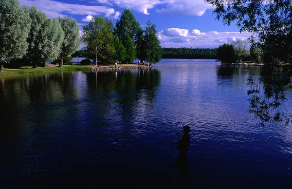 Sport Fishing Photograph - Fly-fishing On Lake Savonlinna by Paul Bernhardt