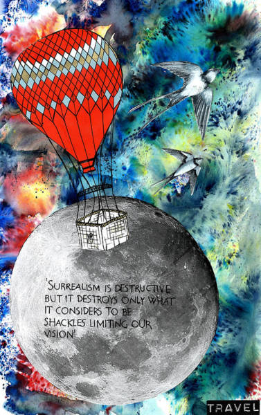 Wall Art - Mixed Media - Fly To The Moon  by Mir Jannetta