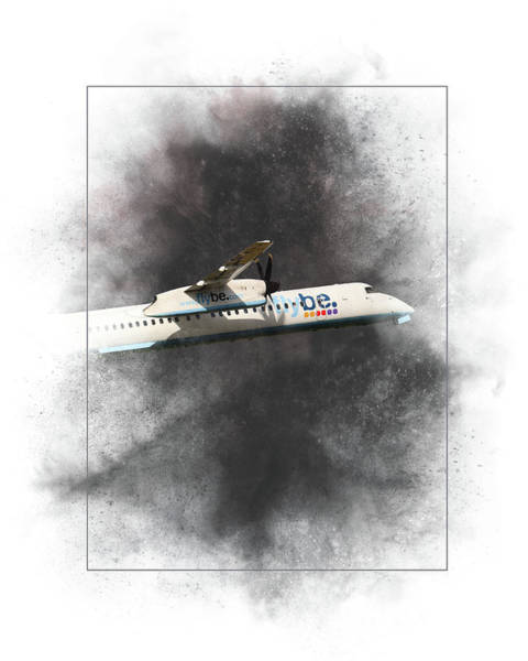 8 Wall Art - Mixed Media - Flybe Bombardier Dash 8 Q400 Painting by Smart Aviation