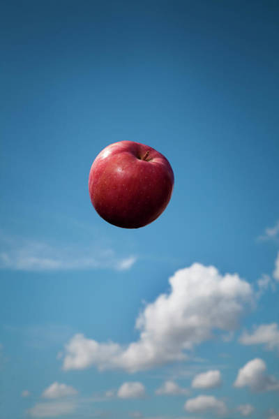 Healthy Lifestyle Photograph - Flying Apple In The Sky by Hiroshi Watanabe