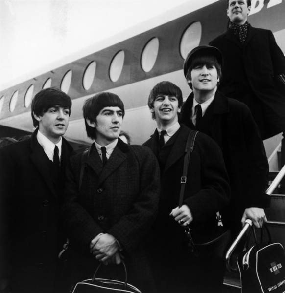 Wall Art - Photograph - Flying Beatles by Evening Standard