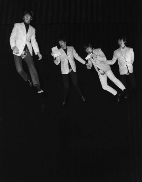 George Harrison Photograph - Flying Beatles by Kent Gavin