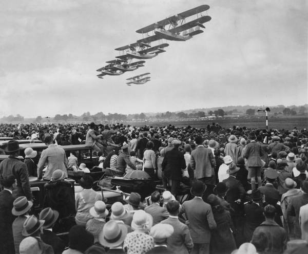 Seaplanes Photograph - Flying Boat Flyover by Express
