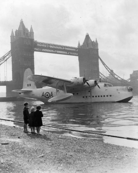 Seaplanes Photograph - Flying-boat by L Blandford