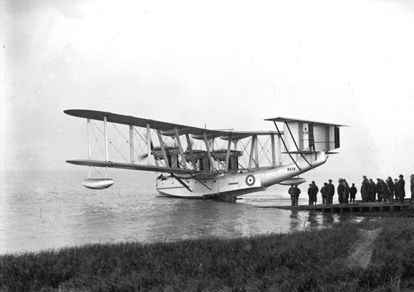 Seaplanes Photograph - Flying-boat Launch by Fox Photos
