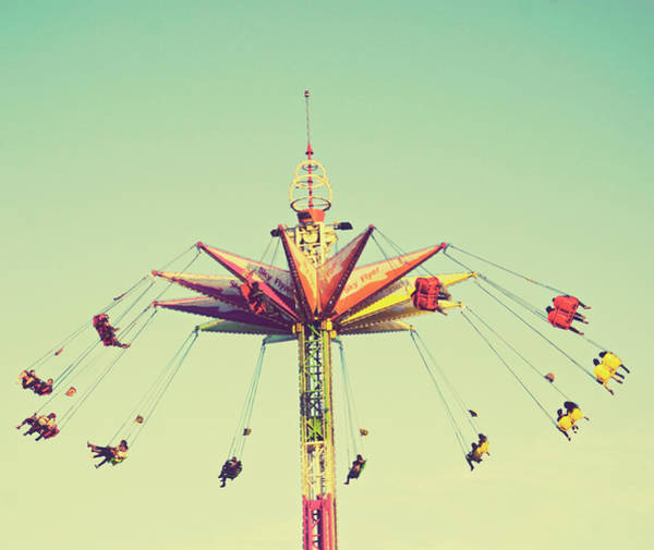 Celebration Photograph - Flying Chairs Ride by Libertad Leal Photography