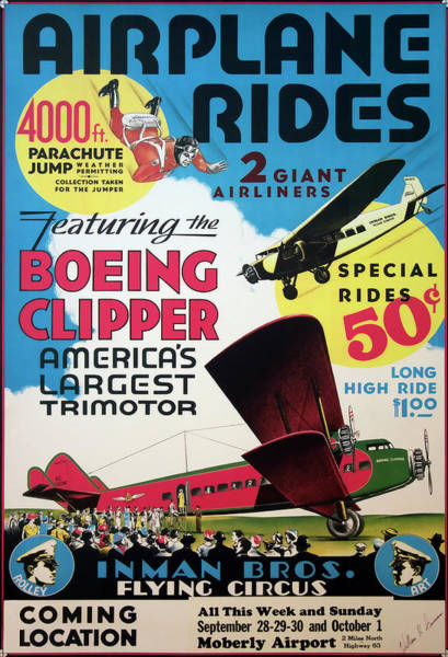 Flying Circus 1929 Art Print
