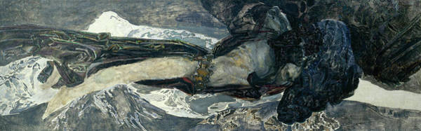 Wall Art - Painting - Flying Demon by Mikhail Vrubel