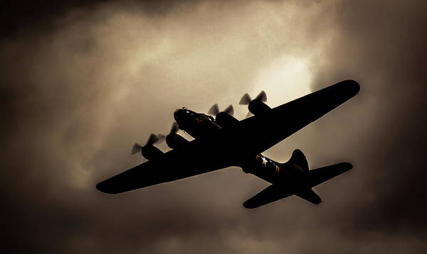 Photograph - Flying Fortress Sally B Shadow by Scott Lyons