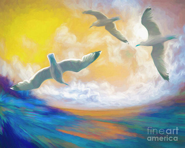 Digital Art - Flying Free by Edmund Nagele