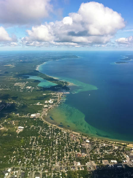 Lakeshore Photograph - Flying In To Traverse City by John A Gessner Photography