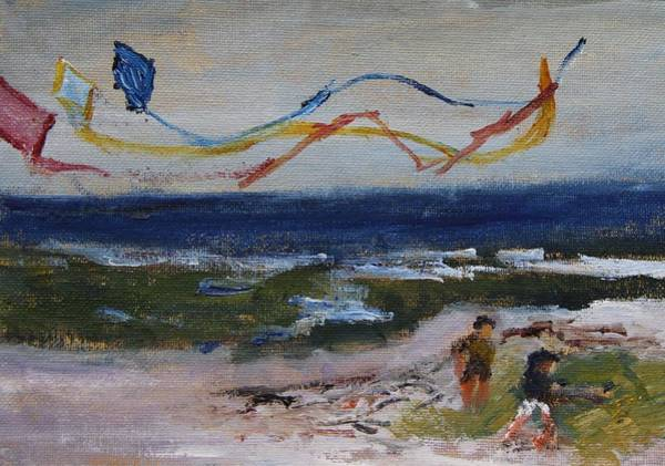 Painting - Flying Kites by Michael Helfen