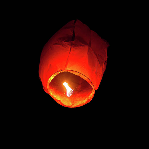 Chinese New Year Photograph - Flying Lantern by Dimuse