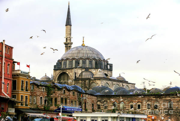Turkiye Wall Art - Photograph - Flying Over The Rustem Pasha Mosque Istanbul by John Rizzuto