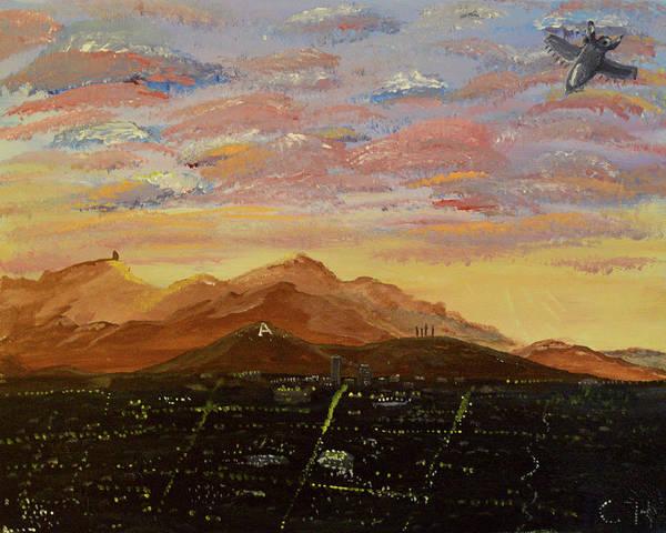 Flying Over Tucson Art Print