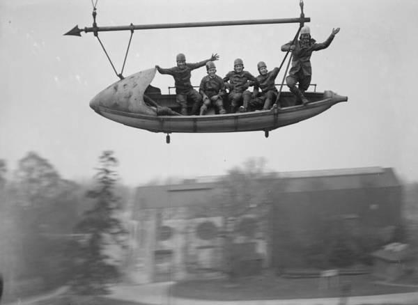 Seaplanes Photograph - Flying Riders by Fox Photos
