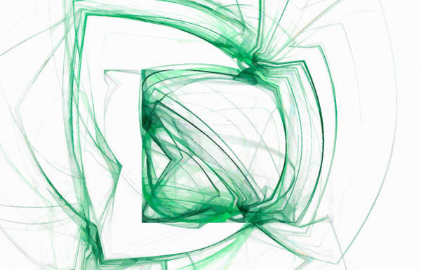Digital Art - Flying Square Green by Don Northup