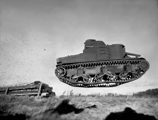Armored Vehicle Photograph - Flying Tank by Keystone