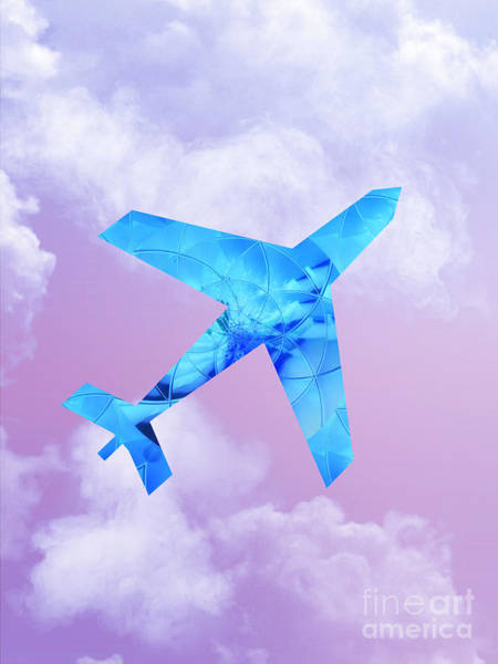 Digital Art -  Flying To Where You Are by Rachel Hannah