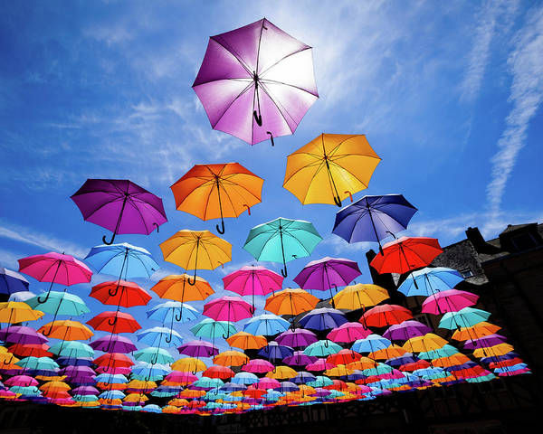 Photograph - Flying Umbrellas II by Peter OReilly