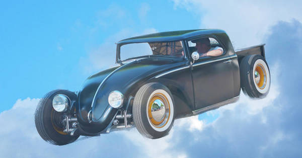 Photograph - Flying Vw by Ron Roberts