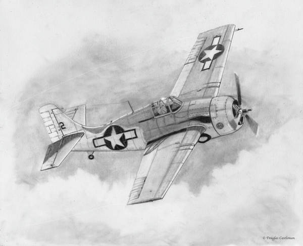 Drawing - Fm-2 Wildcat by Douglas Castleman