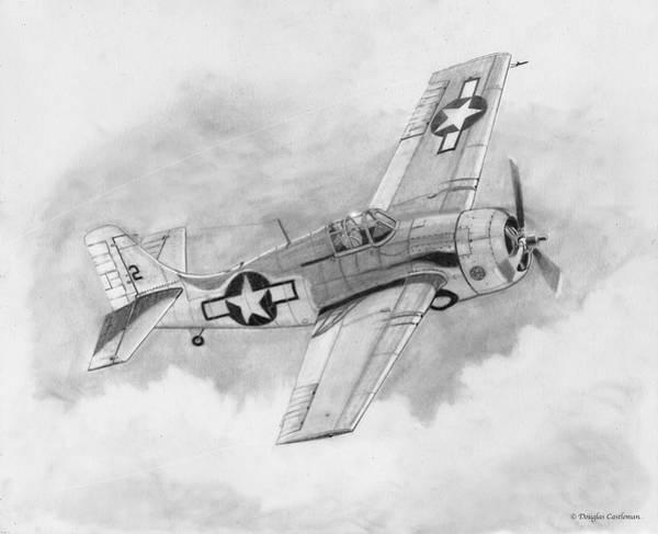 Drawing - Fm-2 Wildcat by Douglas Castleman