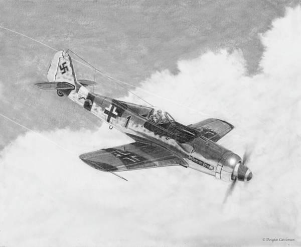Drawing - Focke-wulf Fw-190d by Douglas Castleman