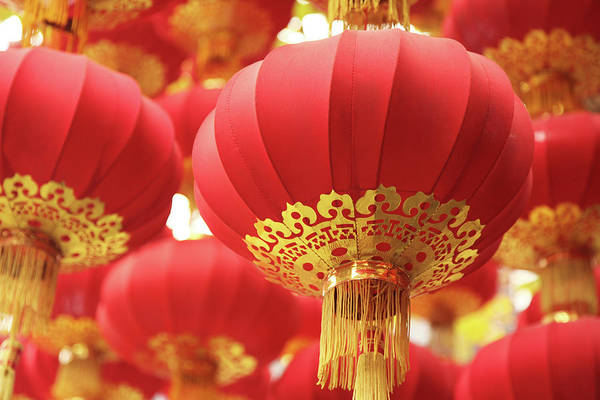 Wall Art - Photograph - Focused Shot Of Group Of Red Chinese by Uschools