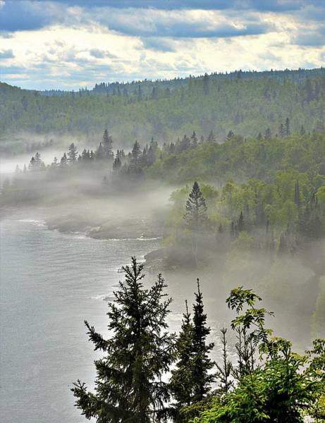 Wall Art - Photograph - Fog Along Lake Superior by Roxanne Distad