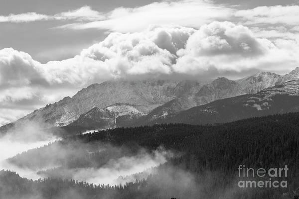 Photograph - Fog And Snow On Pikes Peak Colorado by Steve Krull