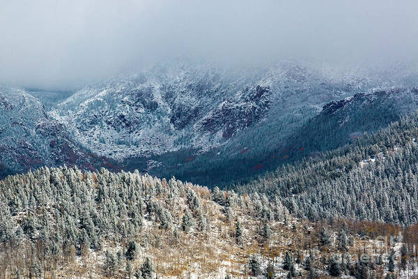 Photograph - Fog And Snow On Pikes Peak North by Steve Krull