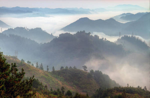 East County Photograph - Fog Covering Valley by By Ray Ghin