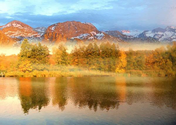 Wall Art - Digital Art - Fog Creeps Over The Lake by Alex Lim