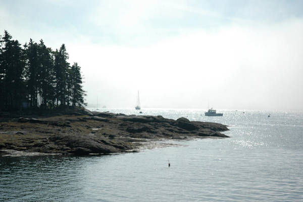 Photograph - Fog In Boothbay Harbor by Mark Duehmig