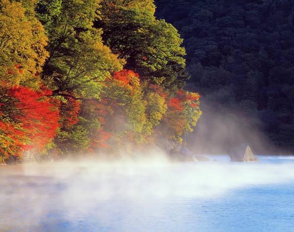 Scenery Photograph - Fog Of Lake Chuzenji In Autumn, High by Daj