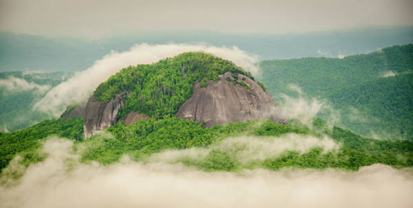 Photograph - Fog Over Looking Glass Rock by Joye Ardyn Durham