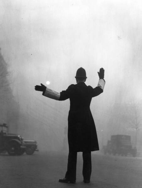Police Force Photograph - Fog Police by Hulton Archive