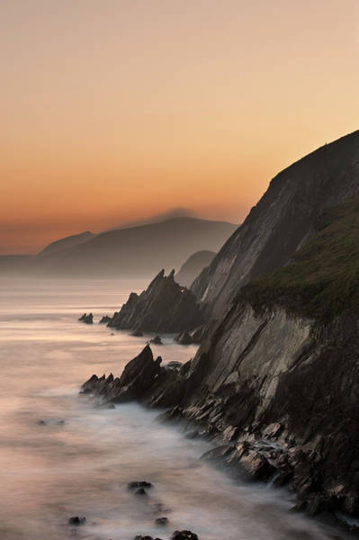 Dingle Peninsula Photograph - Fog Rolling Up To Coastal Cliffs by George Karbus Photography