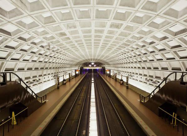 Railroad Station Photograph - Foggy Bottom Metro Station Platform by Mark Chivers / Robertharding