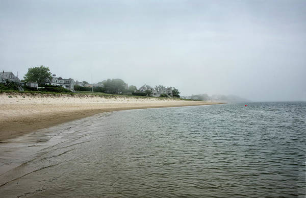 Wall Art - Photograph - Foggy Day At Lighthouse Beach - Chatham Massachusetts by Brendan Reals