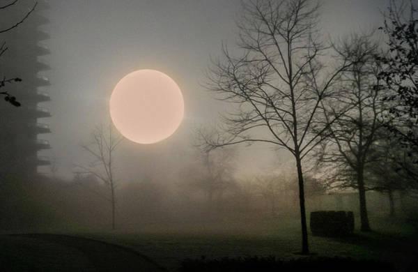 Photograph - Foggy Sun by Juan Contreras