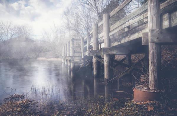 Wall Art - Photograph - Foggy Dock by Lena Auxier